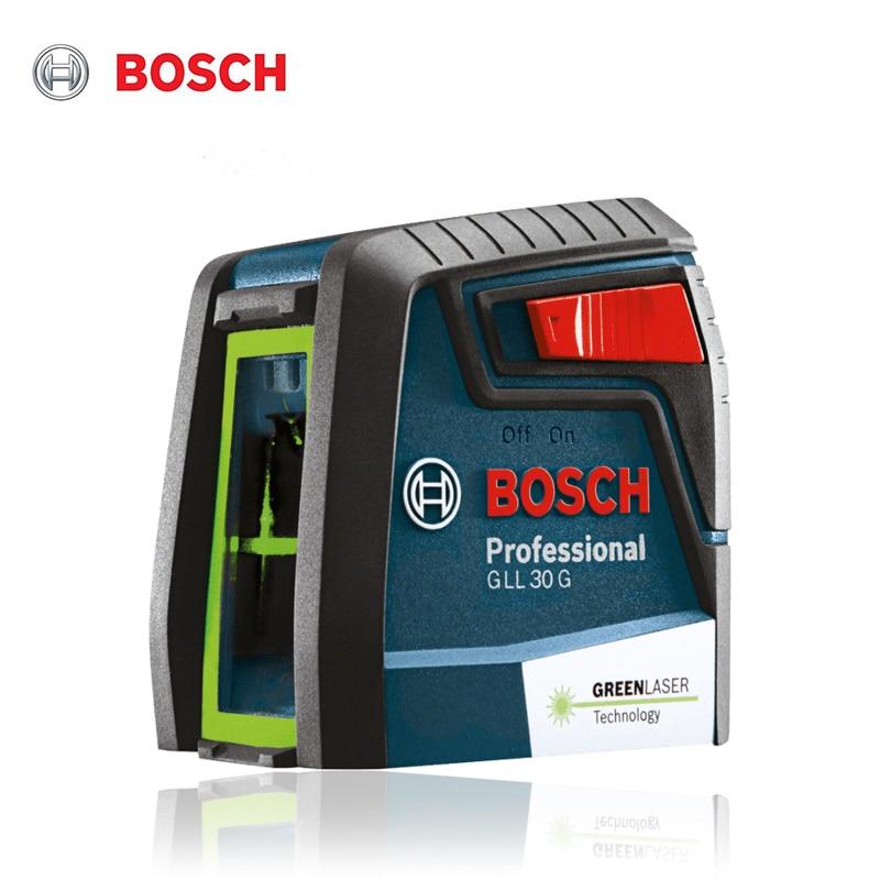 Bosch GLL 30G horizontal and vertical high-precision laser spirit level, green two-line laser spirit level