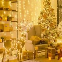 led light string outdoor waterproof colorful light string holiday decoration light christmas bar light string