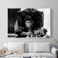 1 piece scarface picture poster prints wall art canvas painting modular picture home decor for living room no frame