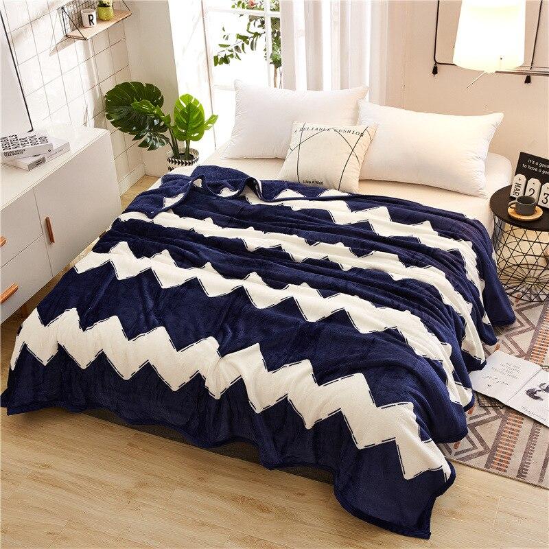 Manta de franela de lana Coral de invierno 200x230cm manta ponderada manta térmica de franela súper suave para sofá cama cubierta de sofá 300gsm