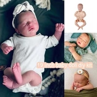 19 inch rb24 vinyl unpainted reborn doll kit accessories diy body parts blank rebirth baby dolls gifts for girls