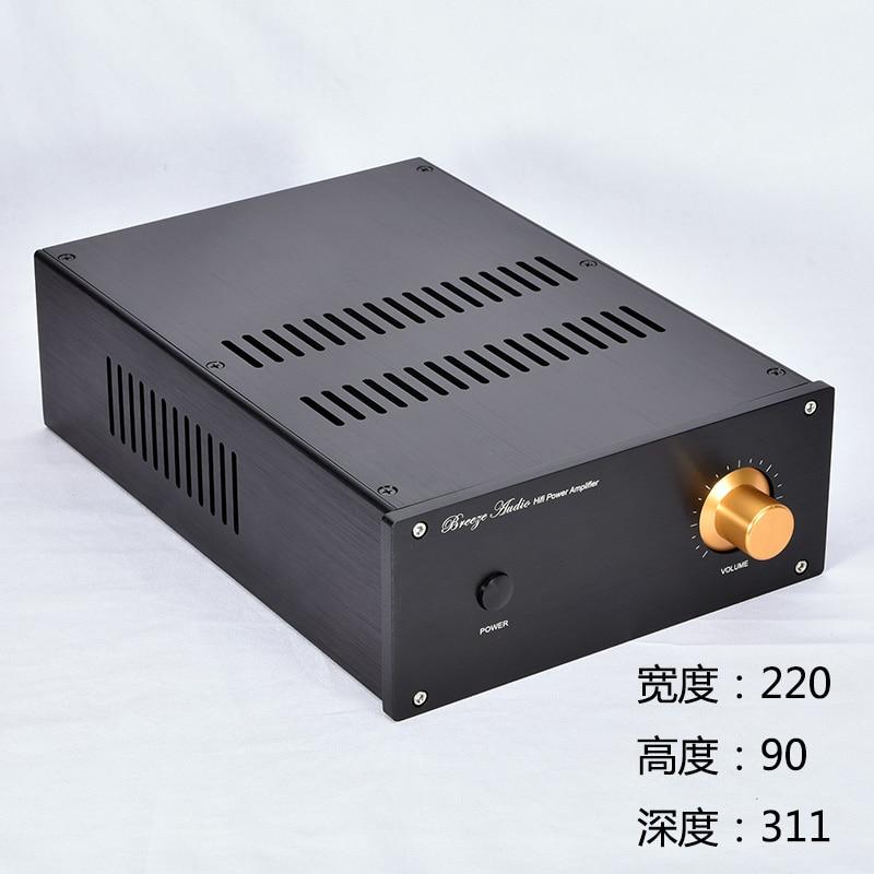 BRZHIFI JC229-shutters الألومنيوم حالة ل الطاقة مكبر للصوت