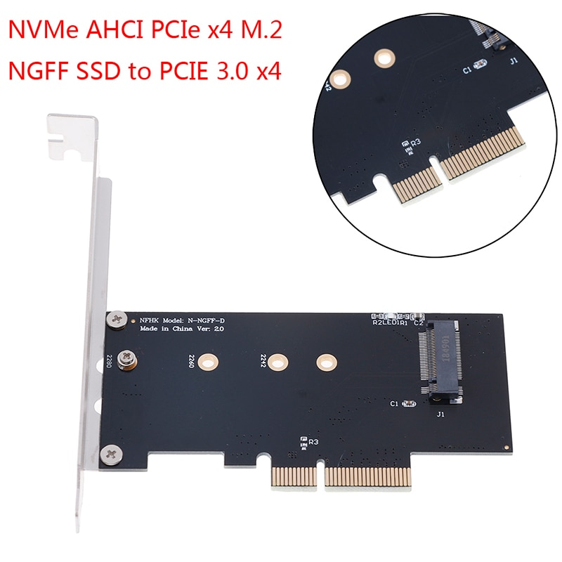 Carte adaptateur convertisseur NVMe AHCI PCIe X4 M.2 NGFF SSD vers PCIE 3.0 X4