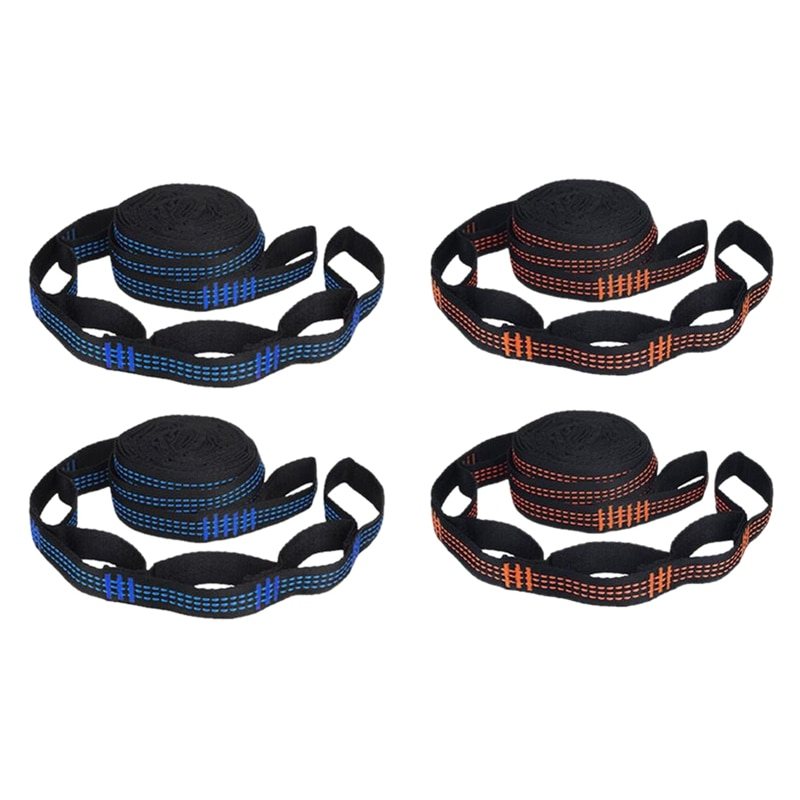 2 Pcs 5-Ring High Load-Bearing Hammock Straps for Home Outdoor