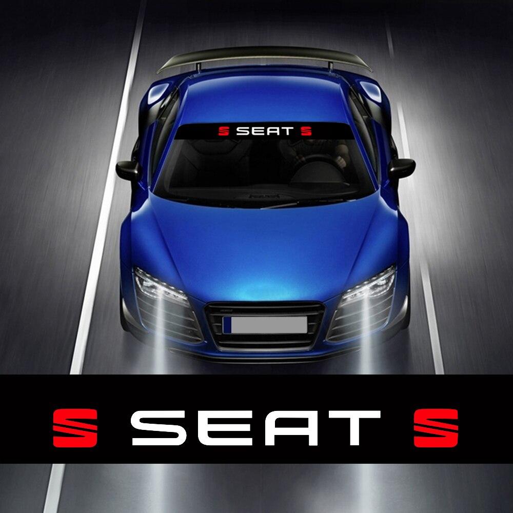 1pc janela dianteira do carro pára-sol de vidro e pára-brisa adesivo de vinil para seat leon cupra r ouyuebo ibisa acessórios exteriores
