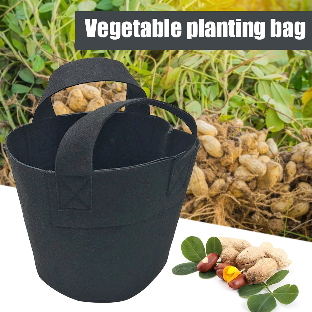 10L Flower Pot Seedling Growing Bags Garden Vegetable Potato Felt Planting Bag Growing Box Round Pot Container