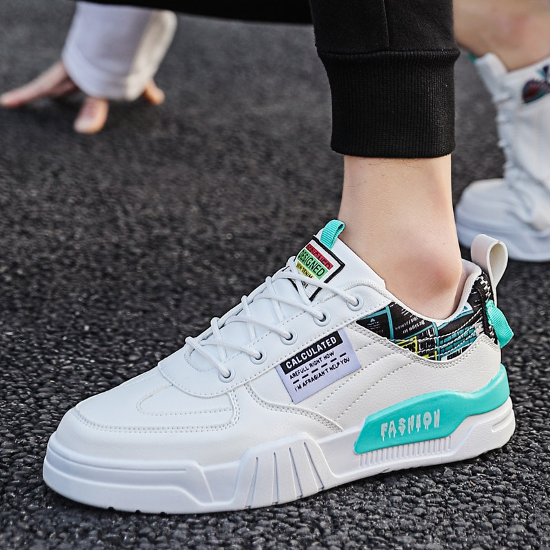 Men's Sneakers Casual Breathable Thick-Soled Multicolor Running Low-Top Shoes Shock Absorption Lace-Up Shoes