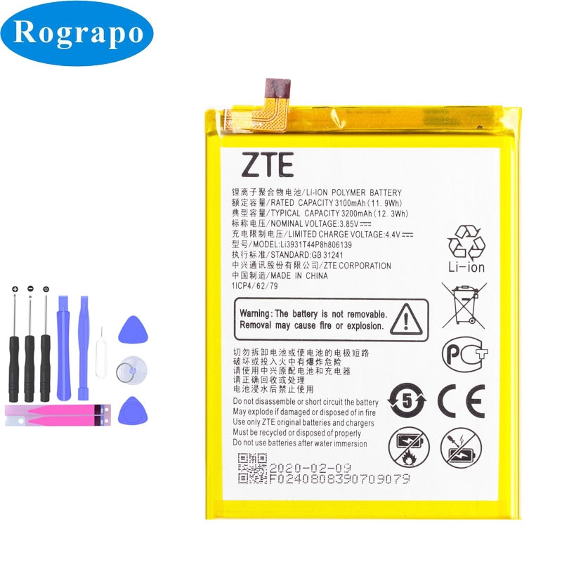 Original 3200mAh Li3931T44P8h806139 Replacement Mobile Phone Battery For ZTE Blade V9 V10 /V9Vita V1