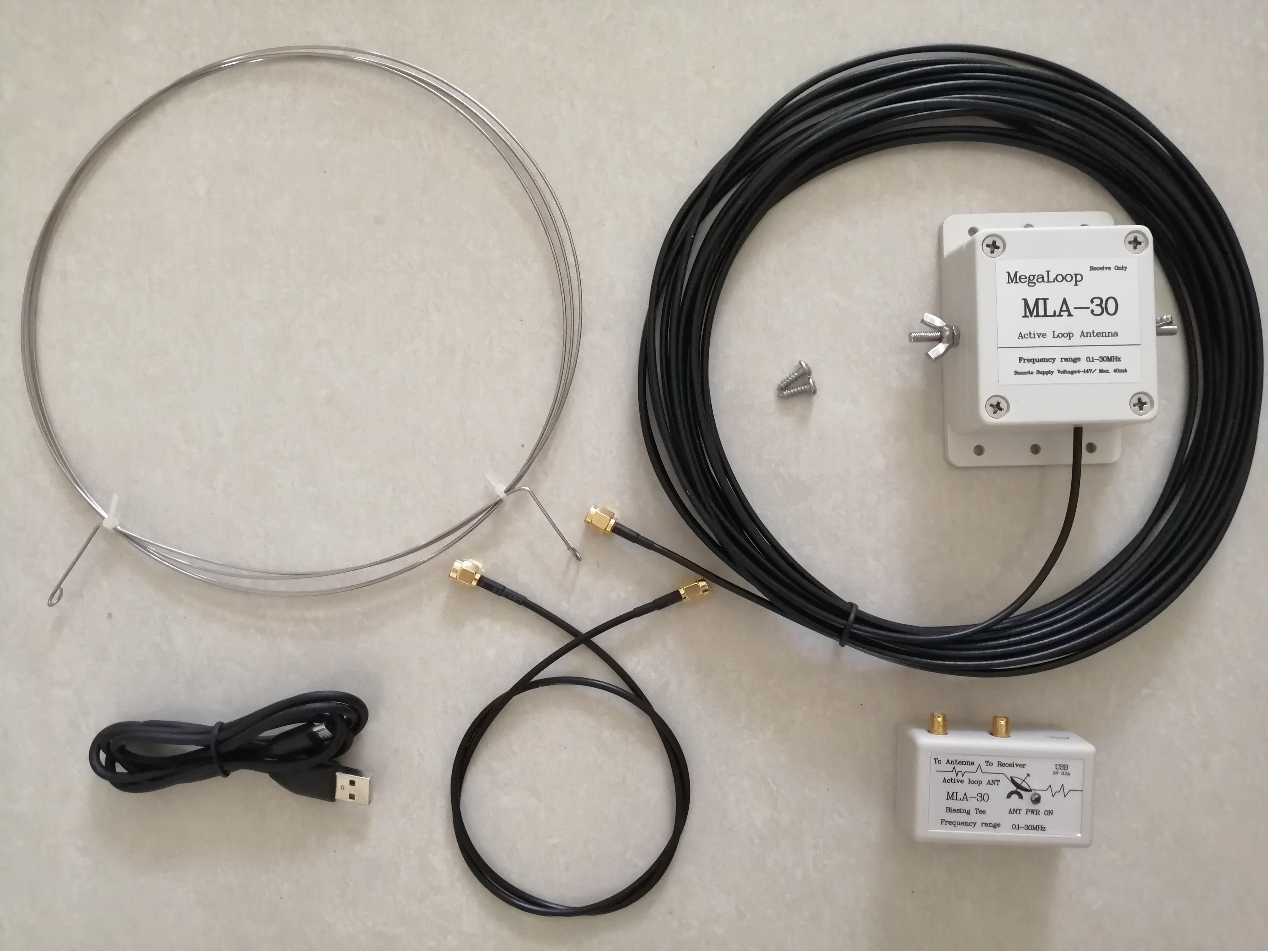 أحدث نسخة MLA-30 حلقة هوائي نشط هوائي الاستقبال 100kHz - 30MHz ل الخنزير راديو