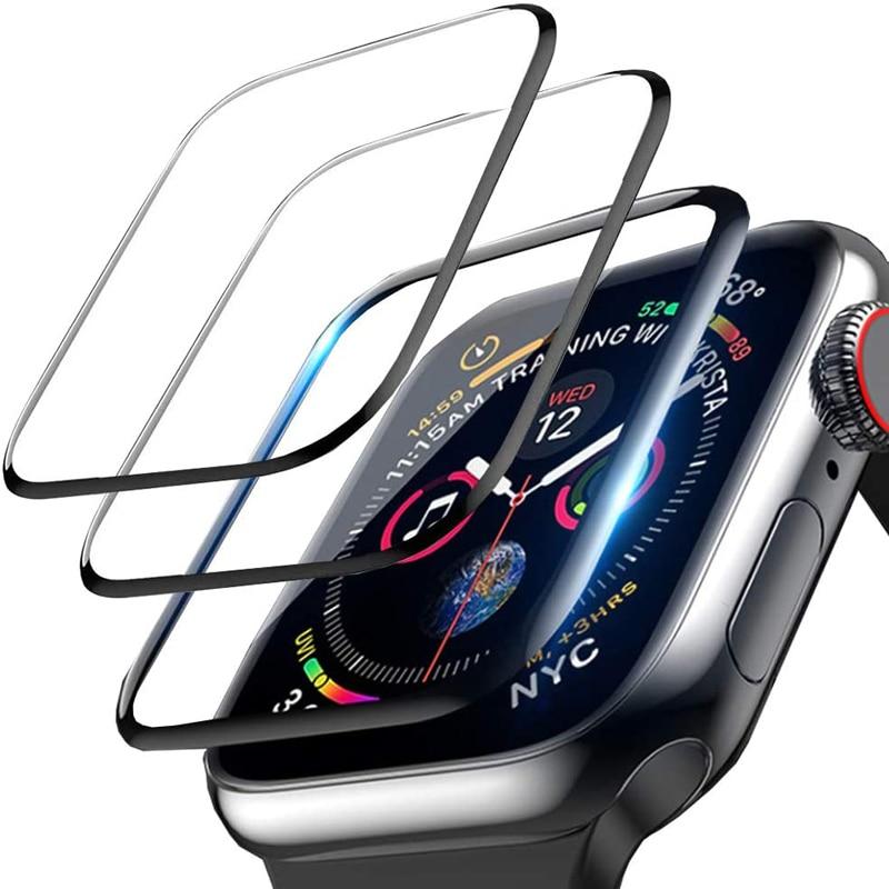 Полная защита мягкая пленка для Apple Watch защита экрана 42 мм 44 мм 40 мм 38 мм iwatch 5 4 3 2 1 6 SE пленка не закаленное стекло