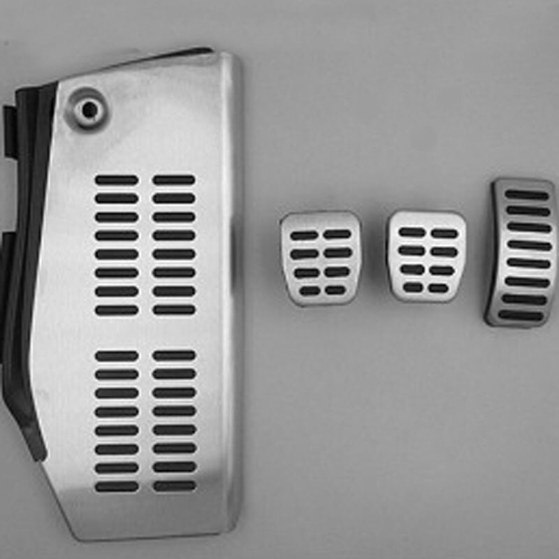 LHD pedal para Volkswagen vw Polo Golf 4 Bora escarabajo RSi GTI R32 para Audi A3 SEAT Leon 1m Toledo 1L de acero inoxidable reposapiés
