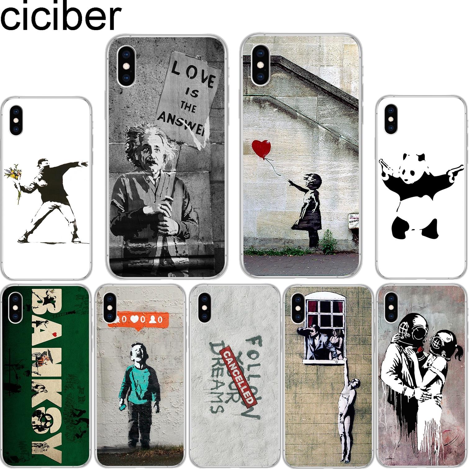 Ciciber banksy albert Palestina arte de la calle suave cubierta TPU para iPhone 11 Pro Max 6S 6 7 8 plus 5S SE X XS X Max XR Coque Funda