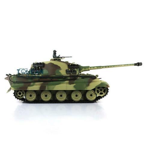 Henglong 1/16 escala 6,0 plástico alemán rey Tigre RTR RC tanque 3888A 360 torreta