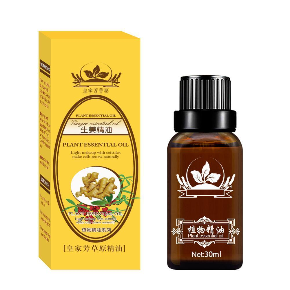 30ml Natural Ginger Oil Lymphatic Drainage Therapy Anti Aging Essential Oil Close Masseter Promote Metabolism Massage Oil недорого