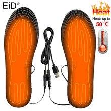 Solette per scarpe riscaldate USB EiD solette per riscaldamento del piede elettrico piedi scaldino calzino tappetino inverno sport all'aria aperta solette riscaldanti inverno caldo