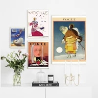 modern canvas poster vogue magazine lady painting fashion wall art canvas wall pictures for living room nordic home decor