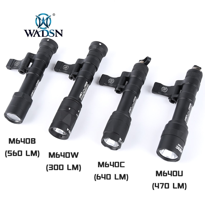 WADSN Surefir M640B M640W M640C M640U M640V Tactical Flashlight Strobe Airsoft Scout Light Hunting W