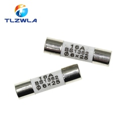 100PCS 6*25mm 6*25 Cerâmica tubo de seguros fusível cerâmico 6x25MM 0.5A 1A 2A 3A 5A 6A 7A 8A 10A 15A 20A 25A 250V fusível RO57 BS1362