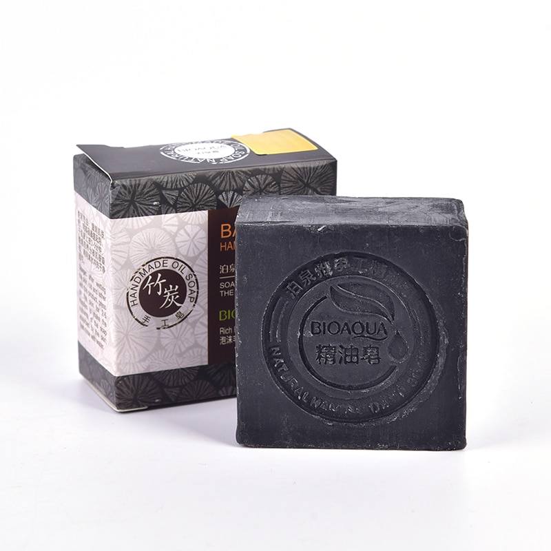 Natural Organic Herbal Essential Black Bamboo Oil Soap Whitening Handmade Soap Skin Remove Acne Deep Cleansing Face Hair Care недорого