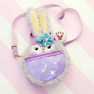 Cartoon Duffy Bear Friends Stellalou Rabbit ShellieMay Gelatoni Plush Handbag Women Shoulder Bag Crossbody Bag for Girls Gifts