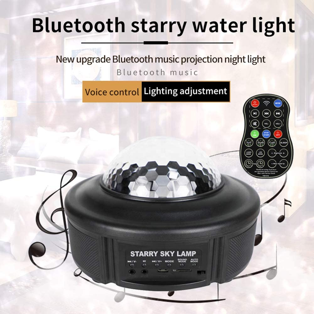 Star Projector for Kids 3 in 1 Star Projector LED Nebula Cloud Bedroom Game Room Home Theatre Night Light Ambiance Wave Ripple