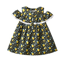 Yg Brand Children's Wear, 2021 Summer New Short Sleeve Children's Princess Skirt, Lovely Yellow Peac