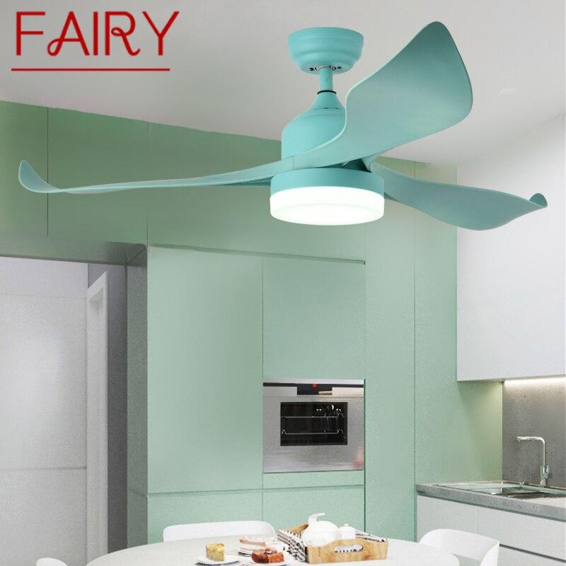 Современные потолочные лампы-вентиляторы с дистанционным управлением, декоративные современные светильники для столовой, спальни