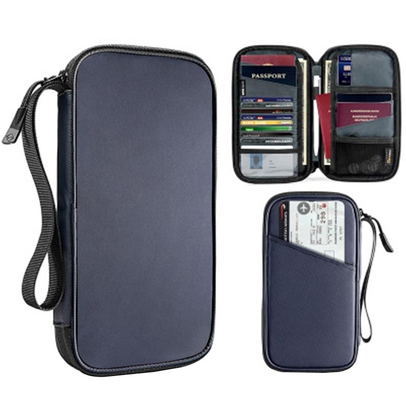 Nuevo pasaporte Cartera de viaje porta pasaporte Multi-función tarjeta de crédito paquete ID documento Multi-tarjeta de almacenamiento paquete embrague