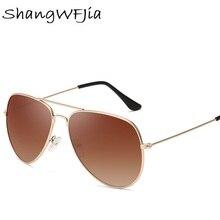 Red Bean  Pilot Aviation Sunglasses MenShades Retro Classic Silver Sun Glasses Female Male Luxury Br
