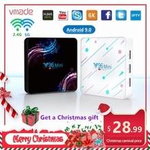6K Android TV Box Allwinner H6 4GB 128GB soutien 2.4G/5G WIFI netflix android 9.0 Smart tv box Google media player décodeur