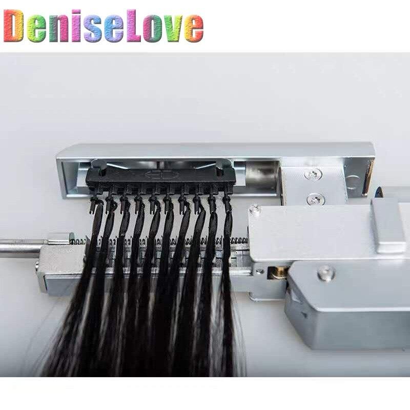 Extensiones de Cabello 6Dhair 5 Unid/set de primera generación 10 stands /pc 6Dhair extension machine 18-22 negro/marrón/Rubio extensión de cabello