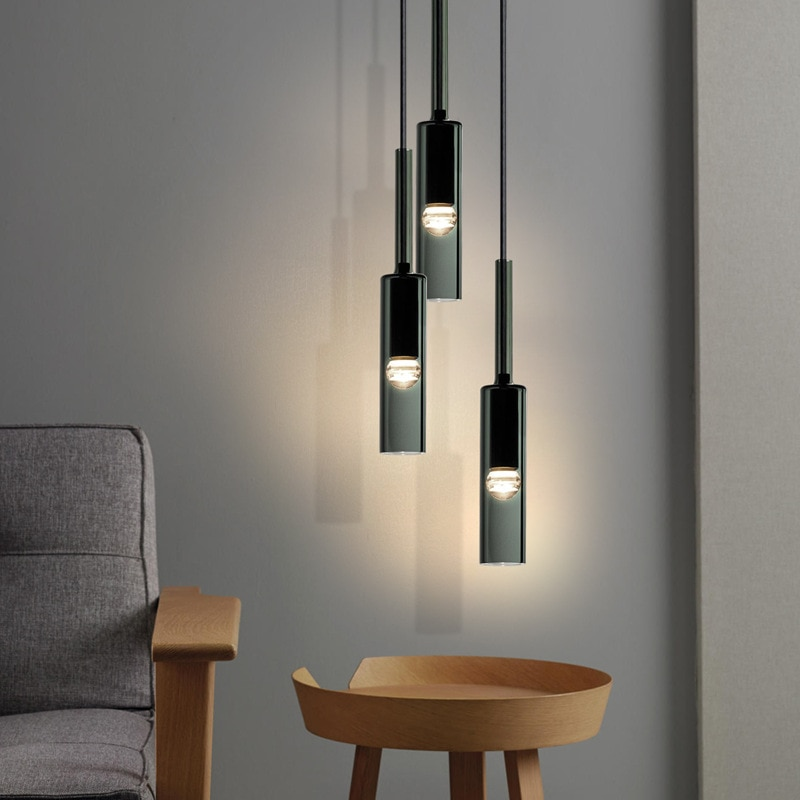 الحديثة قلادة ضوء تركيبات الفاخرة الزجاج الشمال مطعم غرفة المعيشة معلقة منصة مشروبات ديكور غرفة نوم السرير مصباح المطبخ