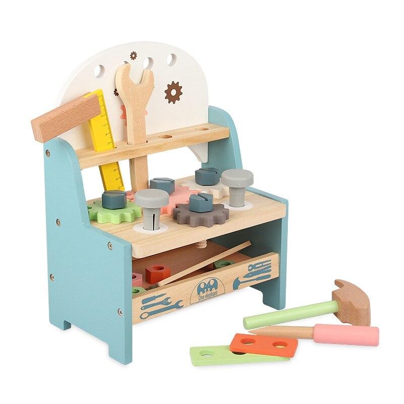 الأطفال محاكاة أداة خشبية مقعد كبير أدوات المسمار الجوز مزيج DIY بها بنفسك تفكيك أداة الجدول لعبة الصيانة