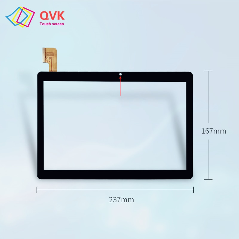 2.5D Black Glass touch screen 10.1 Inch for TECLAST M20 4G Capacitive touch screen sensor panel repair MJK-1157 FPC