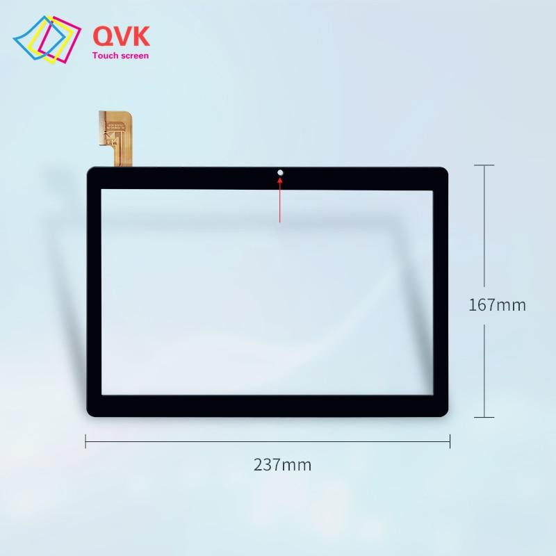 2.5D pantalla táctil negra 10,1 pulgadas para DEXP Ursus M210 M110 Tablet PC pantalla táctil capacitiva panel piezas de repuesto y reparación