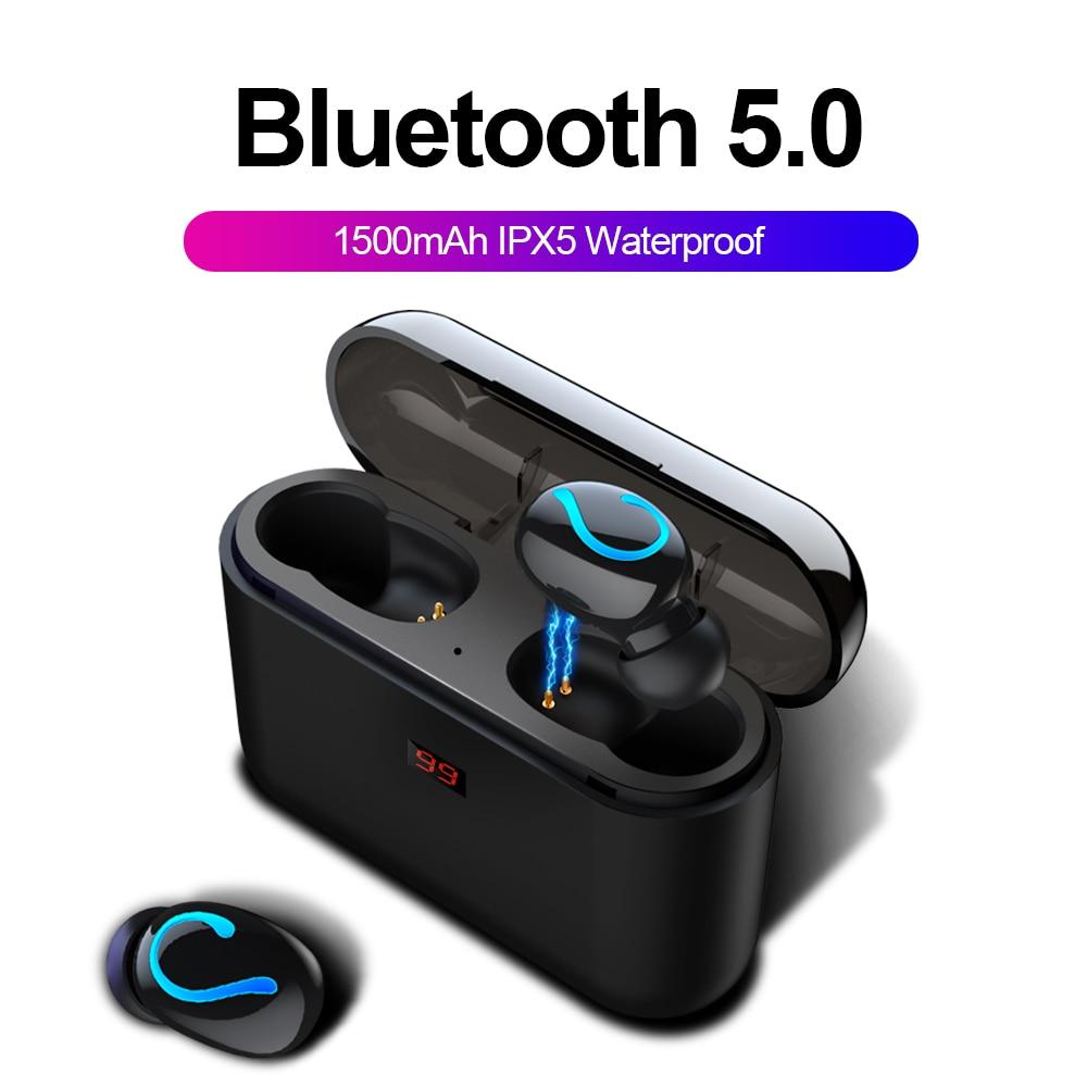 Bluetooth 5,0 auriculares estéreo TWS auriculares inalámbricos Bluetooth auriculares manos libres auriculares deporte Auriculares auriculares para juegos de teléfono HBQ-Q32
