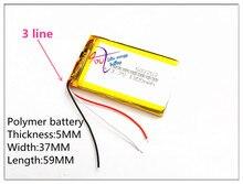 3 ligne litre énergie batterie 3.7V e route route HD-X9 X10 7 pouces 1300MAH trois lignes 503759 navigateur batterie assez 053759