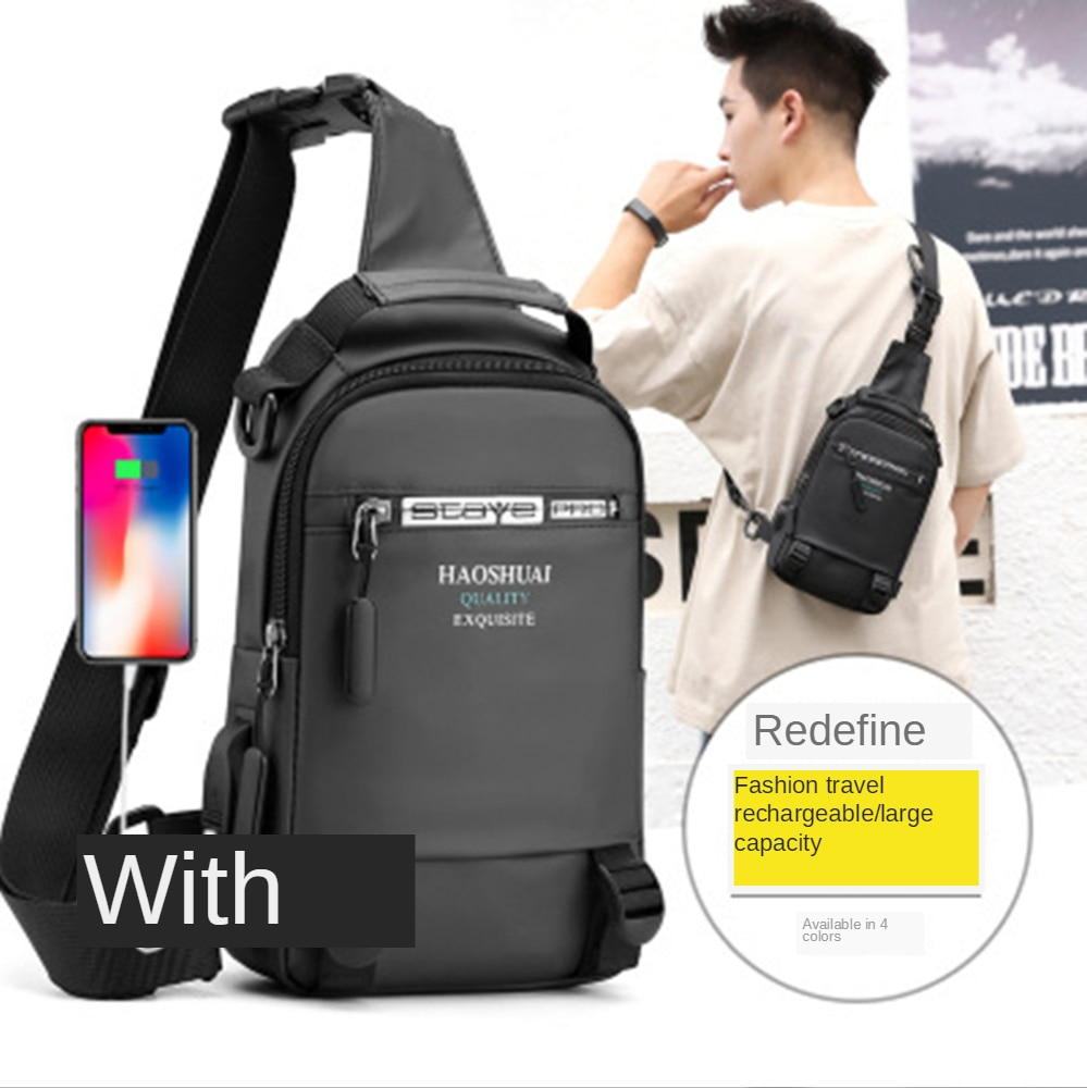 New Fashion Hot Sale Mens Crossbody Bag Chest Pack Waterproof Travel Multifunction Sling&double Shoulder Messenger Bags