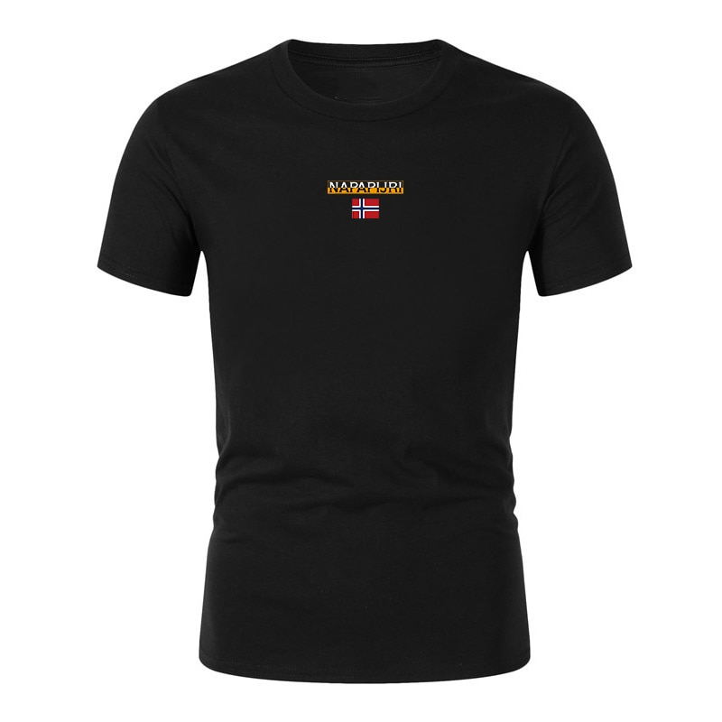 Nuevo estilo, camiseta Baumwolle lässig, camisetas Herren Kurzarm, Camiseta deportiva Sommer Modemarke napaapijri Grafikdruck