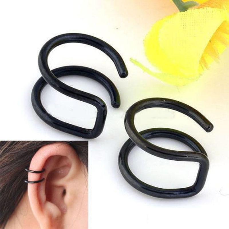 2 kos / komplet punk preprosti uhani za ušesne manšete za ženske - Modni nakit - Fotografija 3