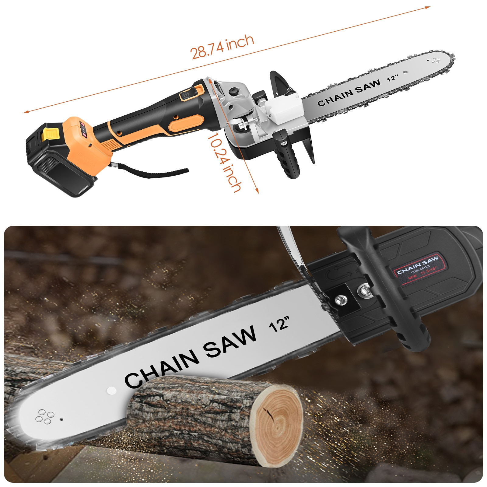 21V Chainsaws Cordless Angle Grinder Tool With 12