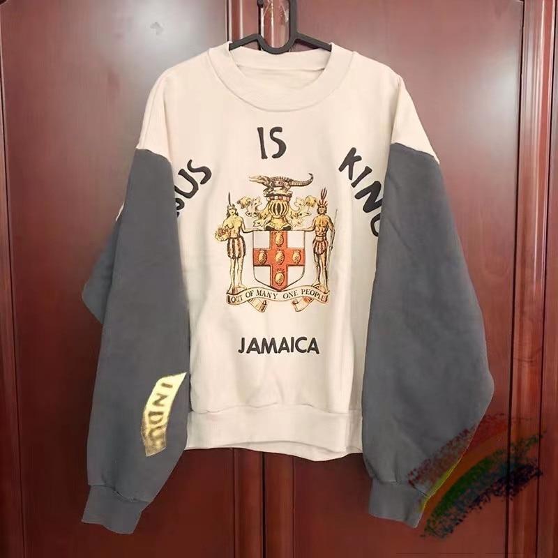 11 versão superior streetwear jesus é rei moletom com capuz com capuz kanye west jesus é rei jamaica moletom