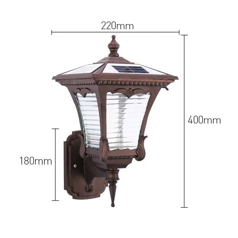 Solar Led Lights Outdoor High Quality Reflector Super Bright Antique Lighting Wall Solar Lamp Mounted Light For Garden Yard enlarge