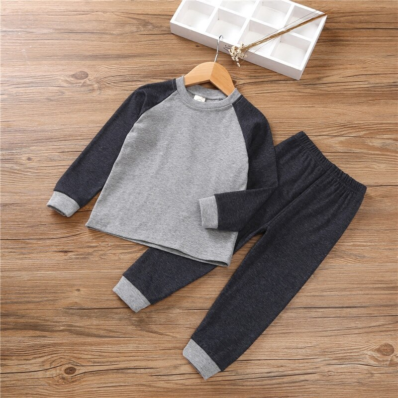 2020 Spring Autumn Girls Pajamas Suit Kids Pyjamas Sets Baby Boy Clothes Cotton Baby Pijamas Children Homewear Bottoming Clothes