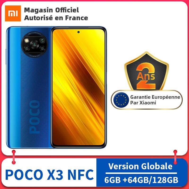 Global Version POCO X3 6GB 128GB/64GB Cellphone Snapdragon 732G 120Hz Display 64MP Quad Camera 5160mAh 33W Charge Xiaomi NFC X 3