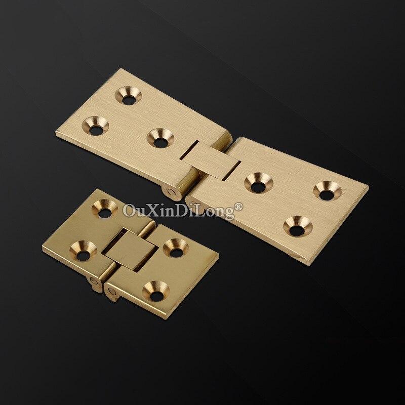 العلامة التجارية الجديدة 50 قطعة النحاس النقي 90 درجة مفصلات خزانة أثاث خشبي صندوق هدايا مجوهرات رفرف مفصلات مفصلات أثاث صغيرة