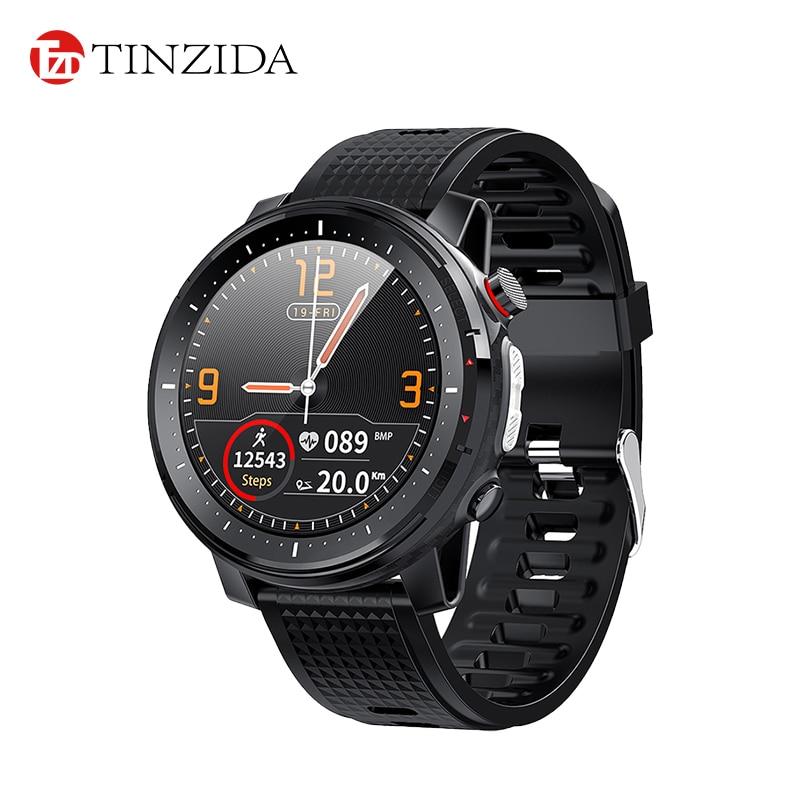 Tinzida ساعة ذكية L15 معدل ضربات القلب ECG دعوة تذكير IP68 مقاوم للماء الرياضة Smartwatch النساء الرجال لهواوي آيفون PK MD15