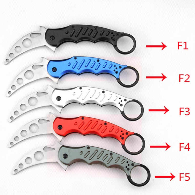 Self defense claw knife aluminum handle high quality folding knives training Mini outdoor pocket self HW51