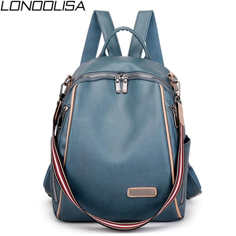 2021 Multifunction Women Backpack High Quality Leisure Rucksack Vintage Leather Mochilas Shoulder Bags Backpacks Fashion Daypack
