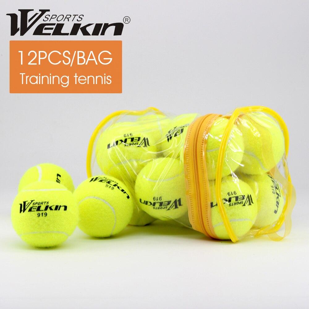 12 pièce élastique caoutchouc balle de Tennis haute résilience Durable Tennis pratique balle école Fun Club compétition entraînement balle Sport